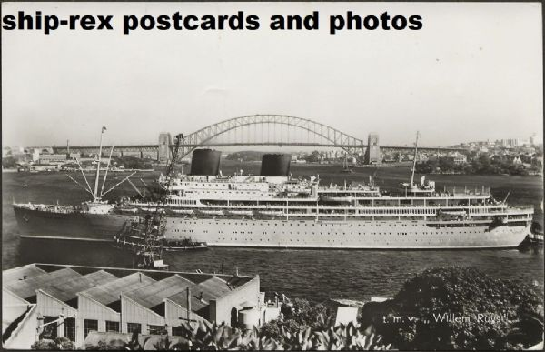 WILLEM RUYS (Royal Rotterdam Lloyd) postcard (a)